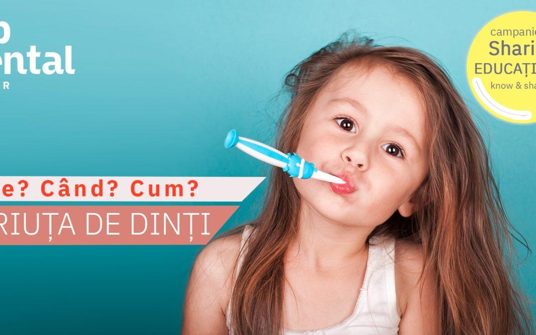 Unde ne tinem periuta de dinti? cum o intretinem? (text si video)